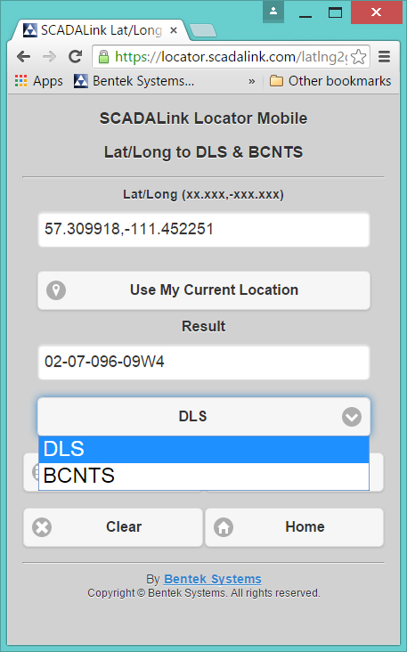 Locaotor-LatLong to DLS&BCNTS