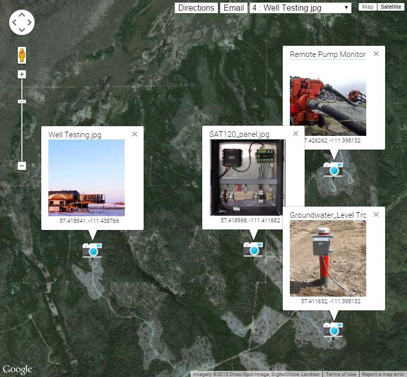 SCADALink Locator Enterprise for Oilfield Site Information Managment