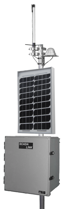 SCADALink SAT120 RTU with Solar Panel and Cell Antenna