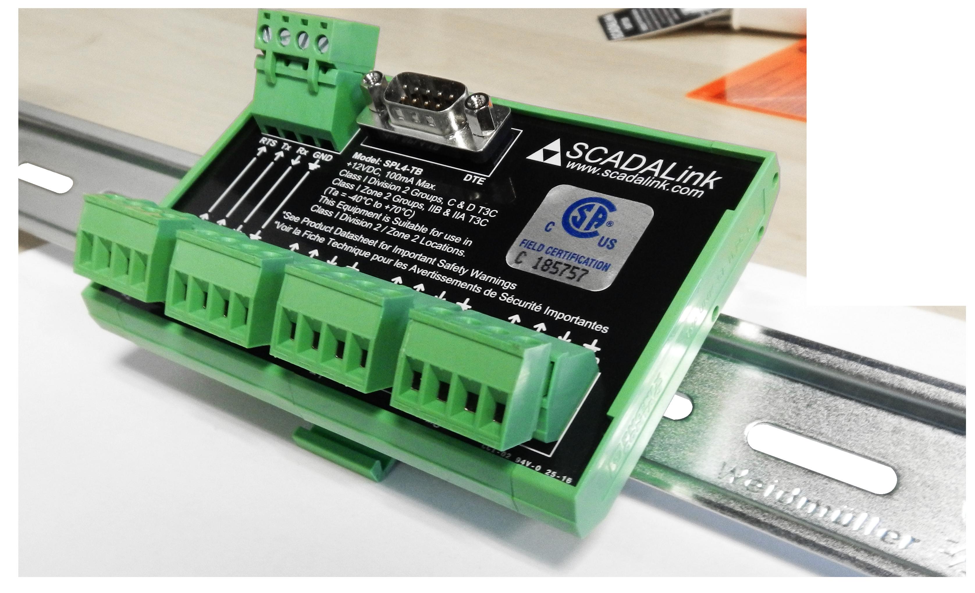 SCADALink SPL4-TB — RS232 Splitter