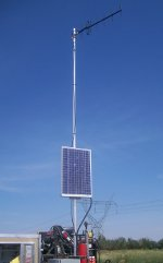 Antenna and Mast with Solar Power